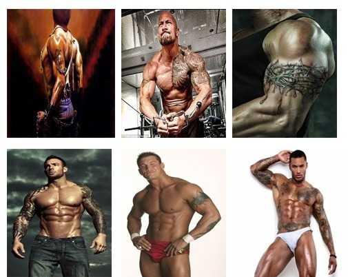 Los Tatuajes para hombres musculos