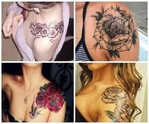 Tatuajes femeninos en el hombro 4 imagenes