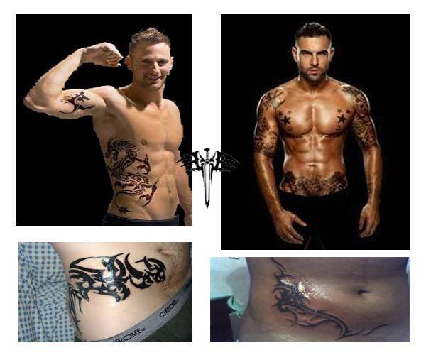 Tatuajes para hombres en la cadera Tribales en la cintura