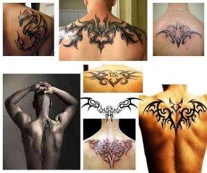 Tatuajes para hombres en la espalda Diseños tribales