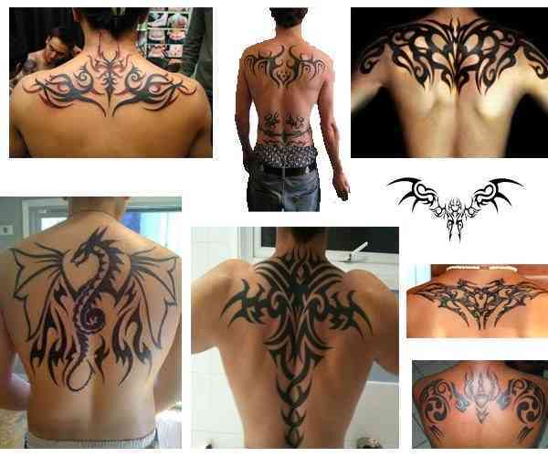 Tatuajes para hombres en la espalda tribales