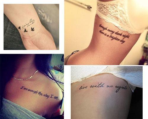 Tatuajes para mujer con frases