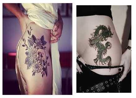 Tatuajes para mujer en la cadera dos fotos