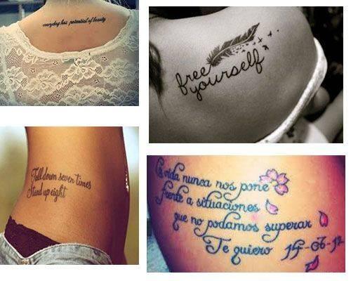 Tatuajes para mujer frases