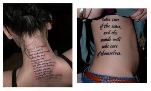 Tatuajes para mujes con frases en el cuerpo