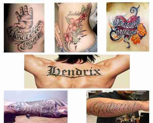 tatuajes para nombres
