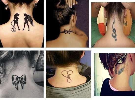 Diseño de Tatuajes para mujeres en la nuca