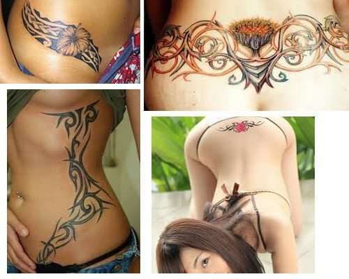 Los Tatuajes para mujeres en la cintura