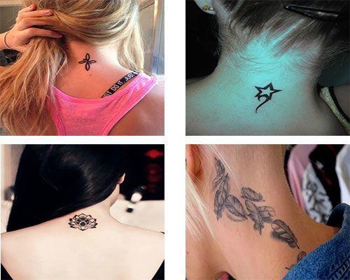 Los Tatuajes para mujeres en la nuca