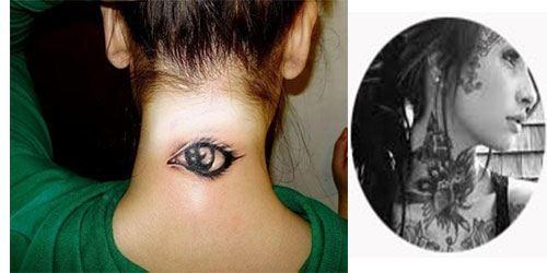 Tatuajes para mujeres en el cuello 3