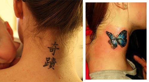 Tatuajes para mujeres en el cuello 4