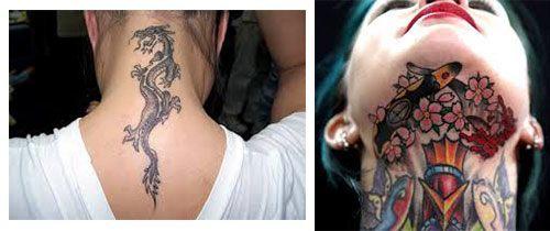 tatuajes cuello mujer foto y imagen