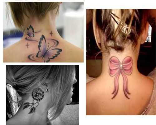 tatuajes pequeños para el cuello mujeres