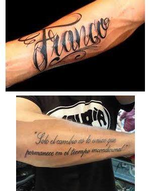 Tatuajes para hombres en el brazo nombres diseño y foto