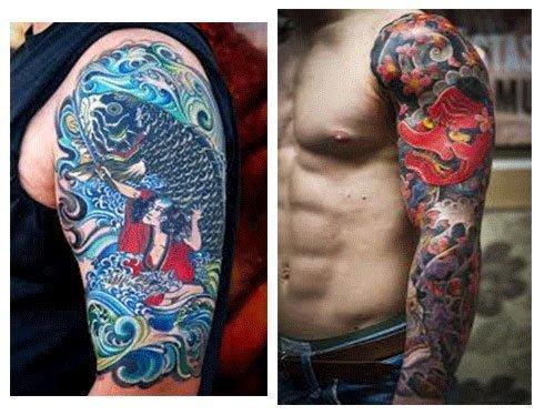 tatuajes japoneses para hombres en el brazo