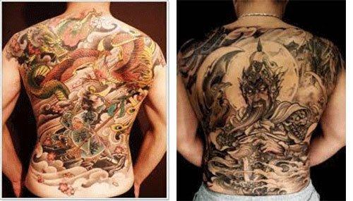 tatuajes japoneses para hombres en la espalda