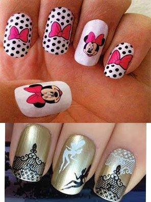 Combinación tatuajes para uñas
