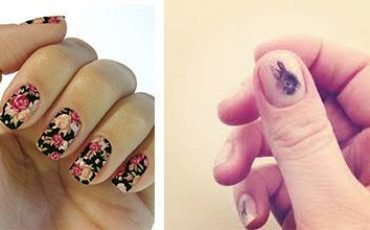 Tatuaje para las uñas mujeres