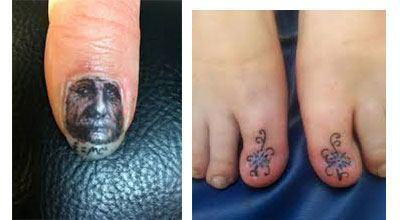 Tatuajes para uñas de los pies