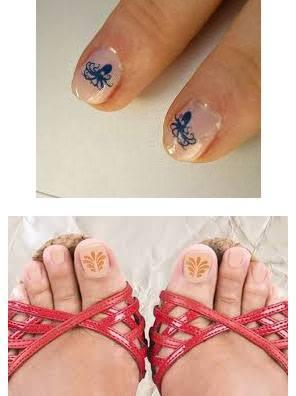 Tatuajes para uñas en los pies