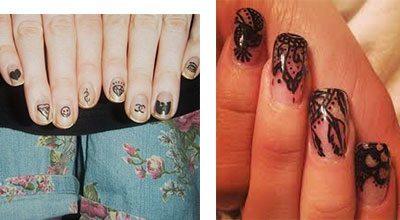 Tatuajes para uñas pequeños