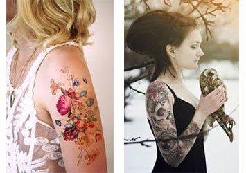 Tatuajes para mujer en el brazo blanco y negro