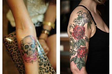 Tatuajes para mujer en el brazo y codo