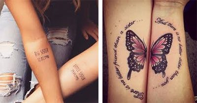este Tatuaje para hermanas