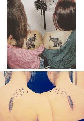 tatuajes para hermanas gemelas