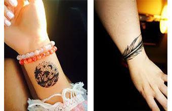 Los Tatuajes para mujeres en las muñecas