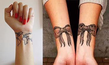 Tatuaje para mujeres en las muñecas femeninos