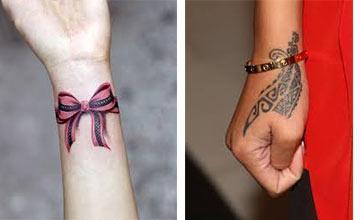 Tatuaje para mujeres en las muñecas fotomato