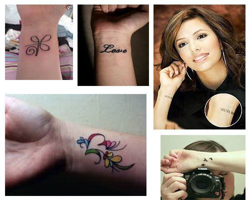 Los tatuajes pequeños para mujeres muñeca