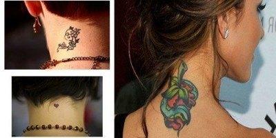 Tatuajes para mujeres en el cuello 1