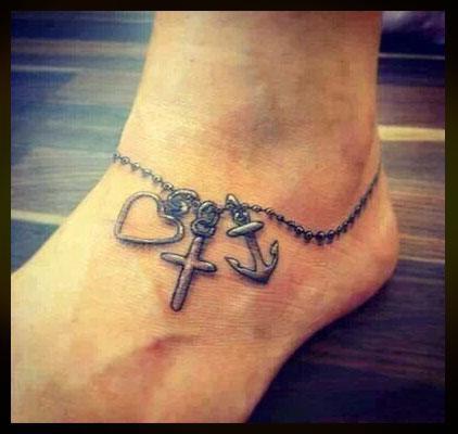 Tatuajes para mujeres en el tobillo imagen