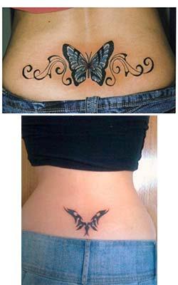 Tatuajes para mujeres en la espalda baja tribal foto