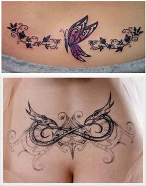 Tatuajes para mujeres en la espalda baja tribales