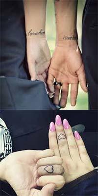 Tatuajes para parejas enamoradas corazones